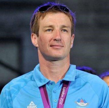Sprejem slovenske olimpijske reprezentance na olimpijskih igrah v Londonu 2012. Veslac Iztok Cop.