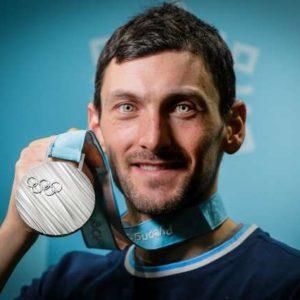 ZOI 2018 - Sprejem za srebrnega biatlonca Jakova Faka v Slovenski hisi.