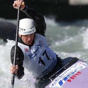 Prva izbirna tekma za slalomsko reprezentanco na divjih vodah. Simon Hocevar.